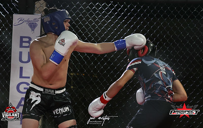 Xeric Karoutsos (5-4) ATT from Longwood (Kick Boxing)    and Koda Sciuto (1-0, 4-0 MMA) from Legends Boxing (Kick Boxing)   Vigilant MMA LLC with Prospects by Global Legion FC presents Combat Quest 9 - Revenge at Banquet Masters on 8/14/2020  Photos by: Joe Mestas www.joemestas.com email: onthegulf@gmail.com
