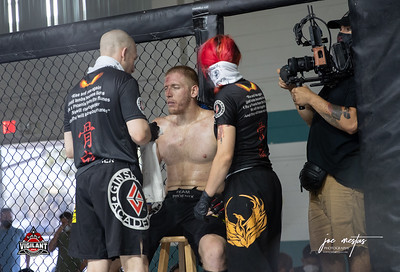 Brandon Williams vs Kyle Koziel (W)  $ecure Tha Bag at Largo's Minnreg Hall on July 11, 2020.  Combat Quest 8 featured 17  bouts consisting of boxing, San Shou Kickboxing, BJJ, CJJ & MMA. To include Title fights and defenses.  Brandon Lee of Vigilant MMA put on an excellent card. Seating was set appropriately for Social Distancing and everyone was required to wear masks.  Photos by: Joe Mestas www.joemestas.com Available for Promo, events, sports, and photo shoots
