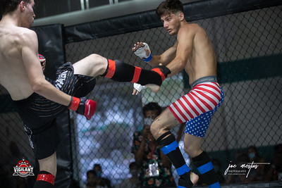 Spencer Meints  vs Tyler Krating (w)  $ecure Tha Bag at Largo's Minnreg Hall on July 11, 2020.  Combat Quest 8 featured 17  bouts consisting of boxing, San Shou Kickboxing, BJJ, CJJ & MMA. To include Title fights and defenses.  Brandon Lee of Vigilant MMA put on an excellent card. Seating was set appropriately for Social Distancing and everyone was required to wear masks.  Photos by: Joe Mestas www.joemestas.com Available for Promo, events, sports, and photo shoots