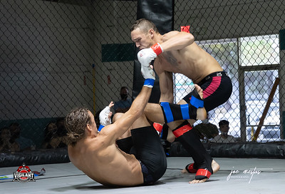 Will Rentz  (W) vs Alex McKinney  $ecure Tha Bag at Largo's Minnreg Hall on July 11, 2020.  Combat Quest 8 featured 17  bouts consisting of boxing, San Shou Kickboxing, BJJ, CJJ & MMA. To include Title fights and defenses.  Brandon Lee of Vigilant MMA put on an excellent card. Seating was set appropriately for Social Distancing and everyone was required to wear masks.  Photos by: Joe Mestas www.joemestas.com Available for Promo, events, sports, and photo shoots