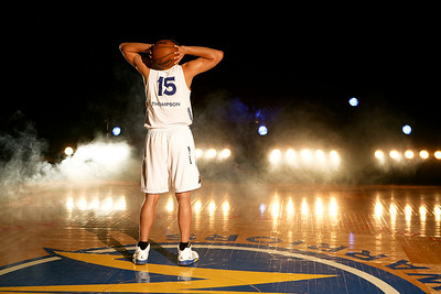 Santa Cruz Warriors Players pose for a promotional shoot