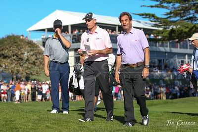 Buster Posey, Jim Furyk & Hewy Lewis- 2015 AT&T Pro Am Golf tournament