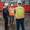 Ships captain and Panalpina Reps discuss loading procedure