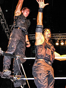 The Shield Dean Ambrose & Roman Reigns WWE House Show