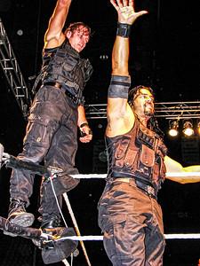 The Shield Dean Ambrose & Roman Reigns WWE House Show