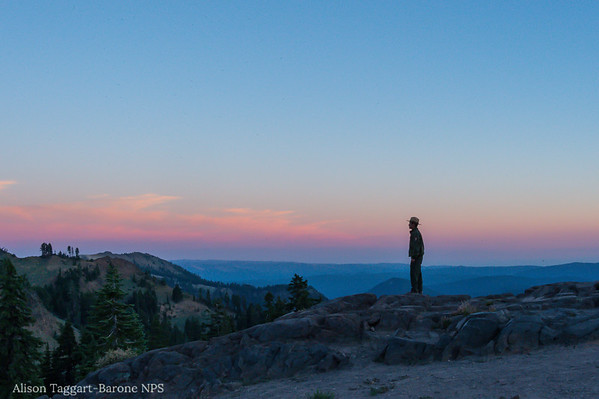 Sunset and Ranger, Lassen Volcanic Park