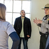Alcatraz Ranger and visitors