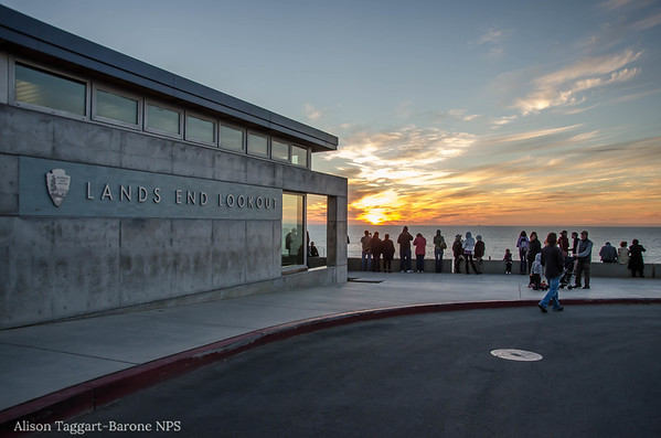 Lands End Lookout at sunset