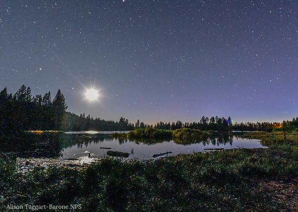 Moonrise, Lake Manzanita, Lassen Volcanic Park