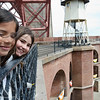 Girls smiling, Fort Point