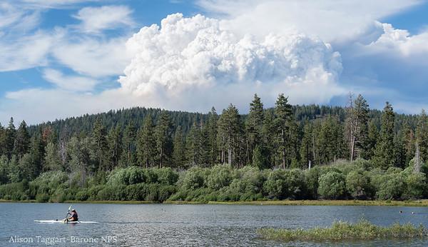 Fire cloud near Lassen Volcanic Partk