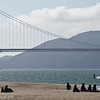 Crissy Field and kite surfer