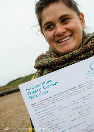 Coastal Clean-up day data card