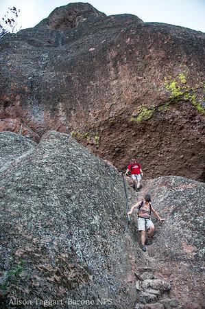 Steep trails at Pinnacles National Park