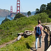 hiking near the Golden Gate Bridge