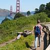 hiking near the Golden Gate Bridge