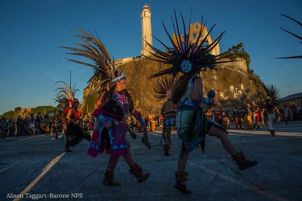 Alcatraz dawn ceremony