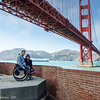 Fort Point wheelchairs under Golden Gate Bridge