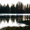 fishing in Lake Manzanita, Lassen Volcanic Park