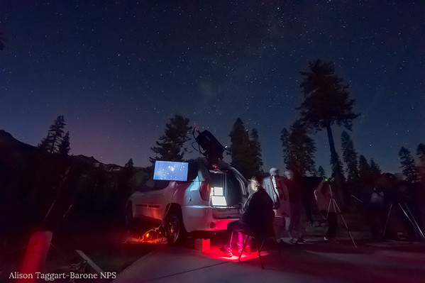 Computer generated star viewing at Lassen Volcanic Park