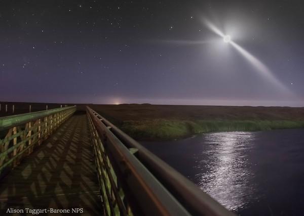 Rodeo Beach Bridge at night
