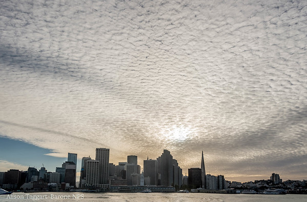Clouds over San Francisco, from the ferry