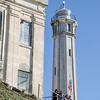 Alcatraz lighthouse and visitors