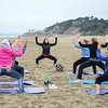 Yoga on Ocean Beach