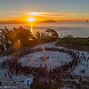Alcatraz dawn ceremony, un-Columbus day 2014