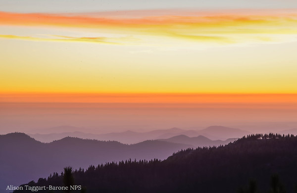 Sunset, Sequoia Kings Canyon National Park. Photo by Alison Taggart-Barone NPS
