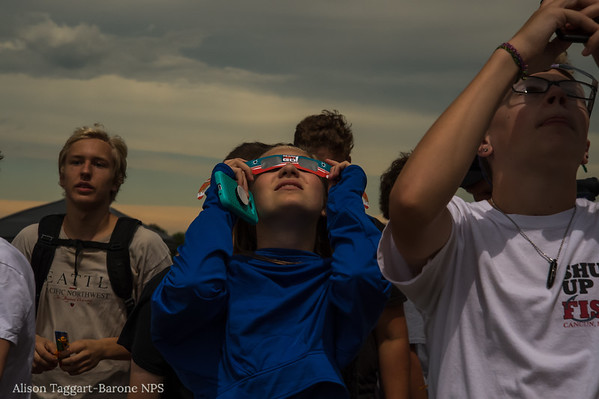 Just after totality. Homestead National Monument. Photo by Alison Taggart-Barone NPS