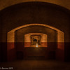 Interior, Fort Point at night. Photo by Alison Taggart-Barone NPS