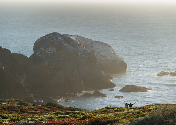 Happy hikers in Marin Headlands. Photo by Alison Taggart-Barone NPS