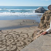 Andres Amador and his sand art at Ocean Beach. Photo by Alison Taggart-Barone NPS