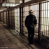 NPS Ranger, Alcatraz at night. Photo by Alison Taggart-Barone NPS
