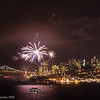 Fireworks over the city, from Alcatraz. Photo by Alison Taggart-Barone NPS