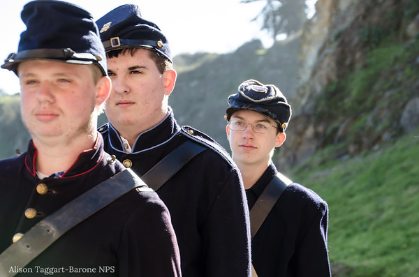 Civil war re-inactors, Fort Point. Photo by Alison Taggart-Barone NPS