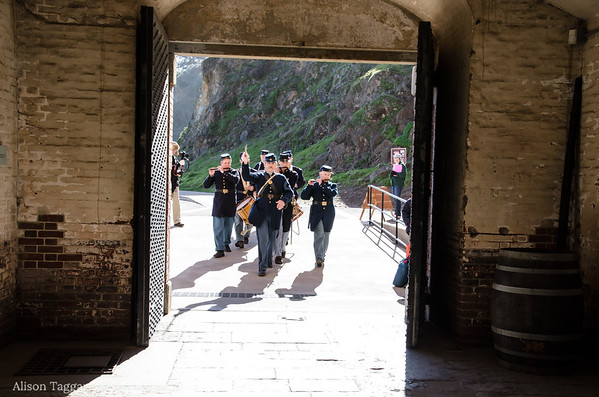 Civil War re-inactors band, Fort Point. Photo by Alison Taggart-Barone NPS