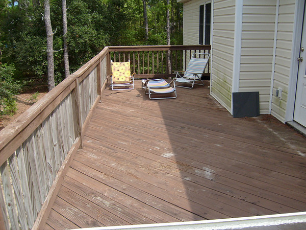 rear deck before