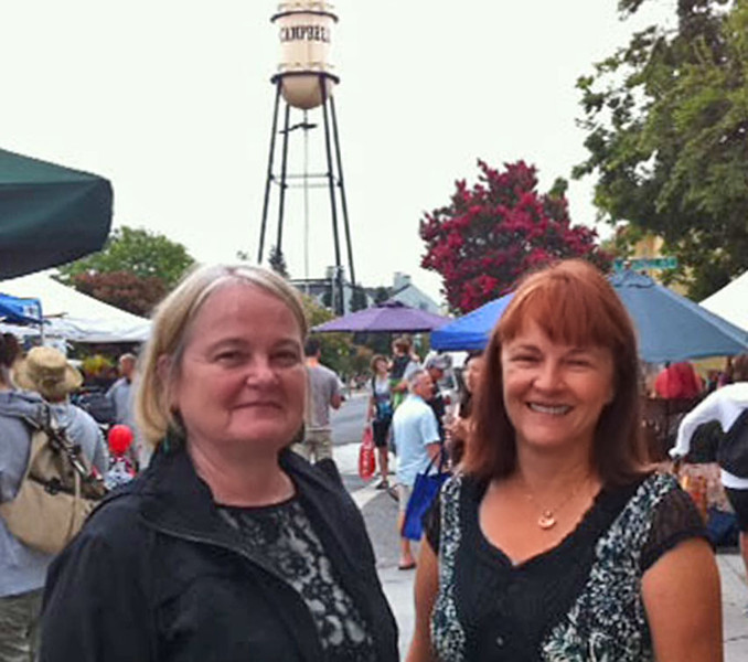 Campbell Planning Commissioners Liz Gibbons, Theresa Alster