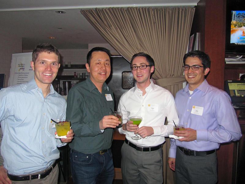 Matthew Brill, Hing Wong, Daniel Alrick, James Castaneda, Holiday party 2011