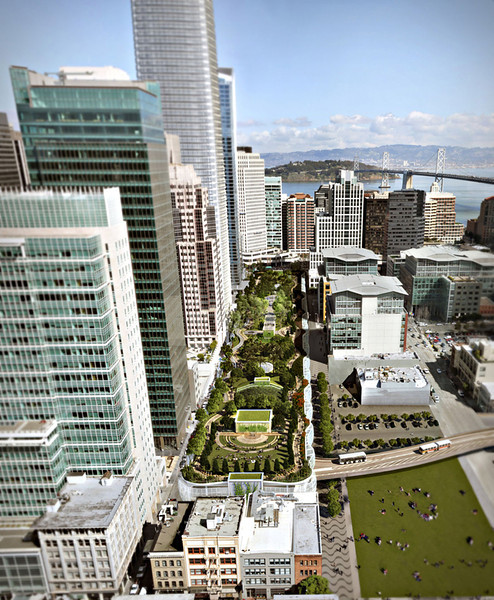 Transbay Park and project from the west