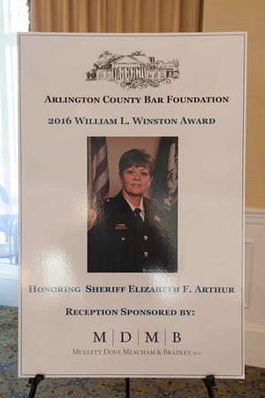 2016 William L. Winston Award with Sheriff's Office Personnel