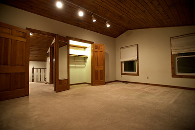 MASTER BEDROOM - LARGE CLOSET, TRACK LIGHTING AND VAULTED CEILING