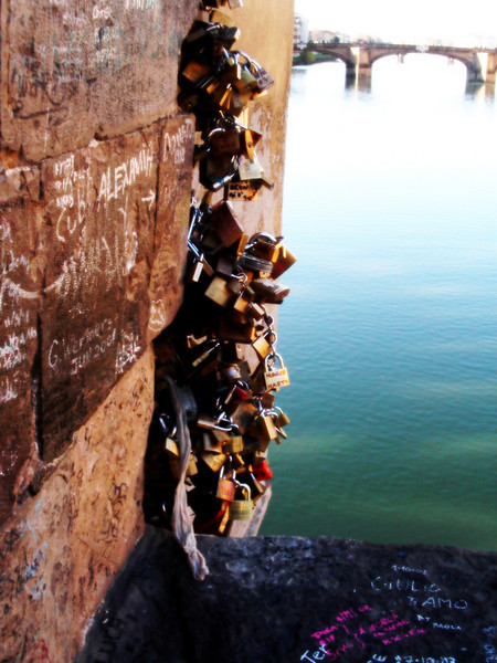 Where lovers lock their love... Florence, Italy