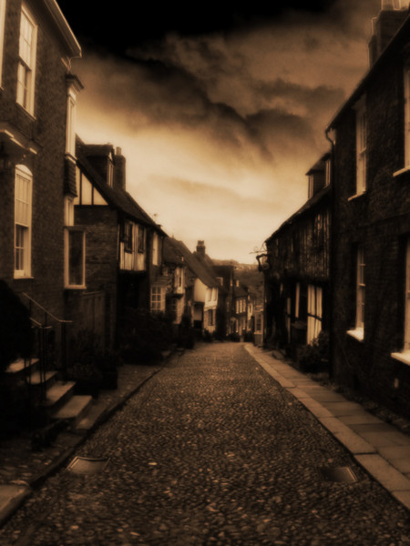 A cloudy day in Rye, East Sussex
