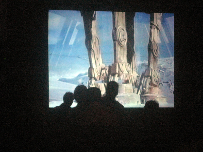 "At my presentation of ""The Empire Strikes Back"""