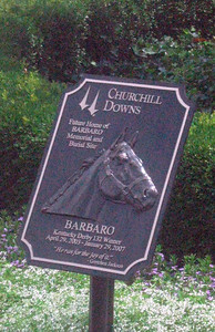 Future resting place for Barbaro--but only his head, hooves ... and heart!
