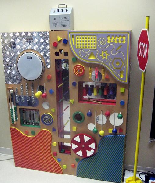 "The Institute's ""Le Sensorium,"" used by children to develop a range of sense skills"