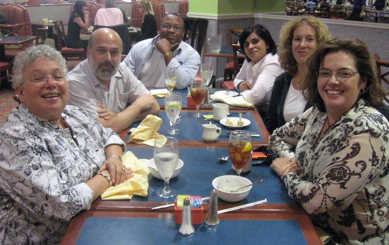 The INstitute Luncheon:  Toni Bader, Joel Snyder, Mike Cohen, Sonali Rai, Lyn Henley and Stasha Boyd.